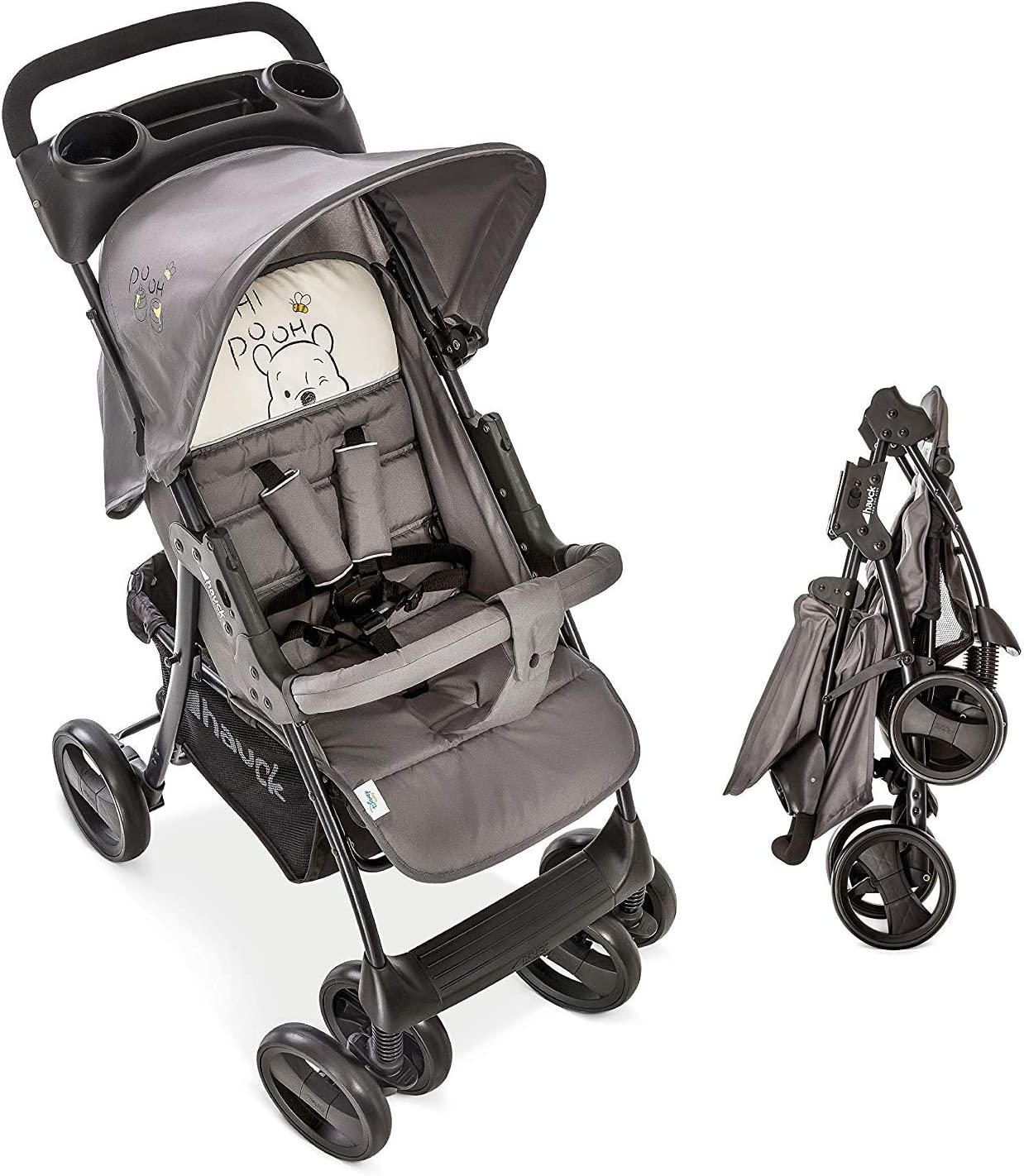 NEW HAUCK DISNEY POOH TIDY TIME SPEED PLUS PUSHCHAIR BABY STROLLER /& RAIN COVER