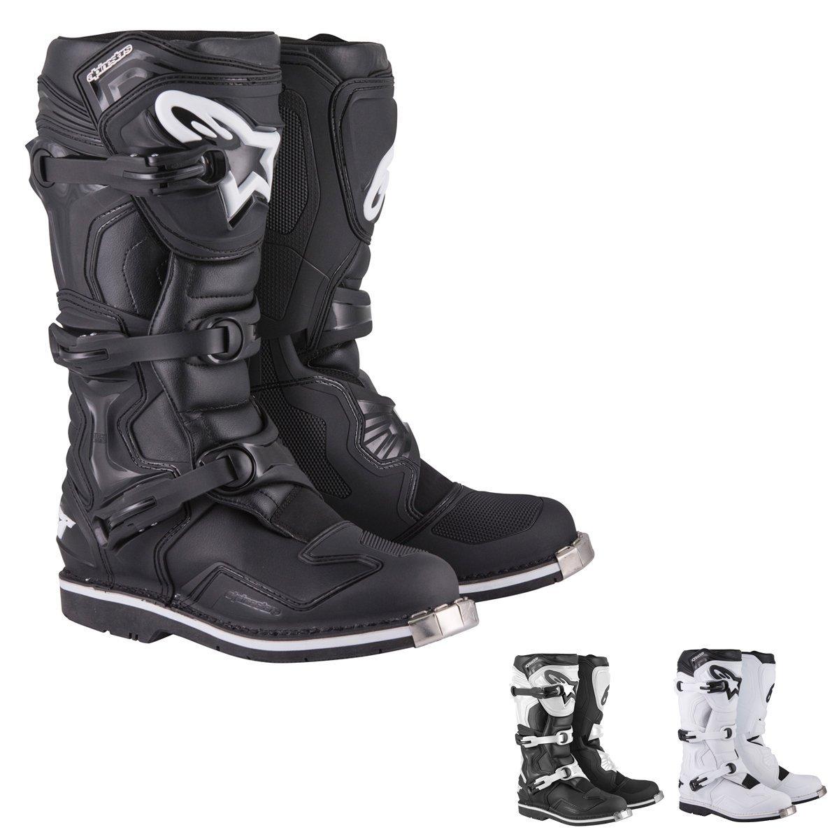 Alpinestars Tech 1 Men's Off-Road Motorcycle Boots - Black/White / 13