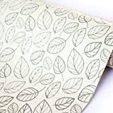 LoveFaye Peel & Stick Shelf Liner Adhesive Contact Paper for Covering Home Office Old Furniture, Leaf Style, 17.7 Inch By 13 Feet