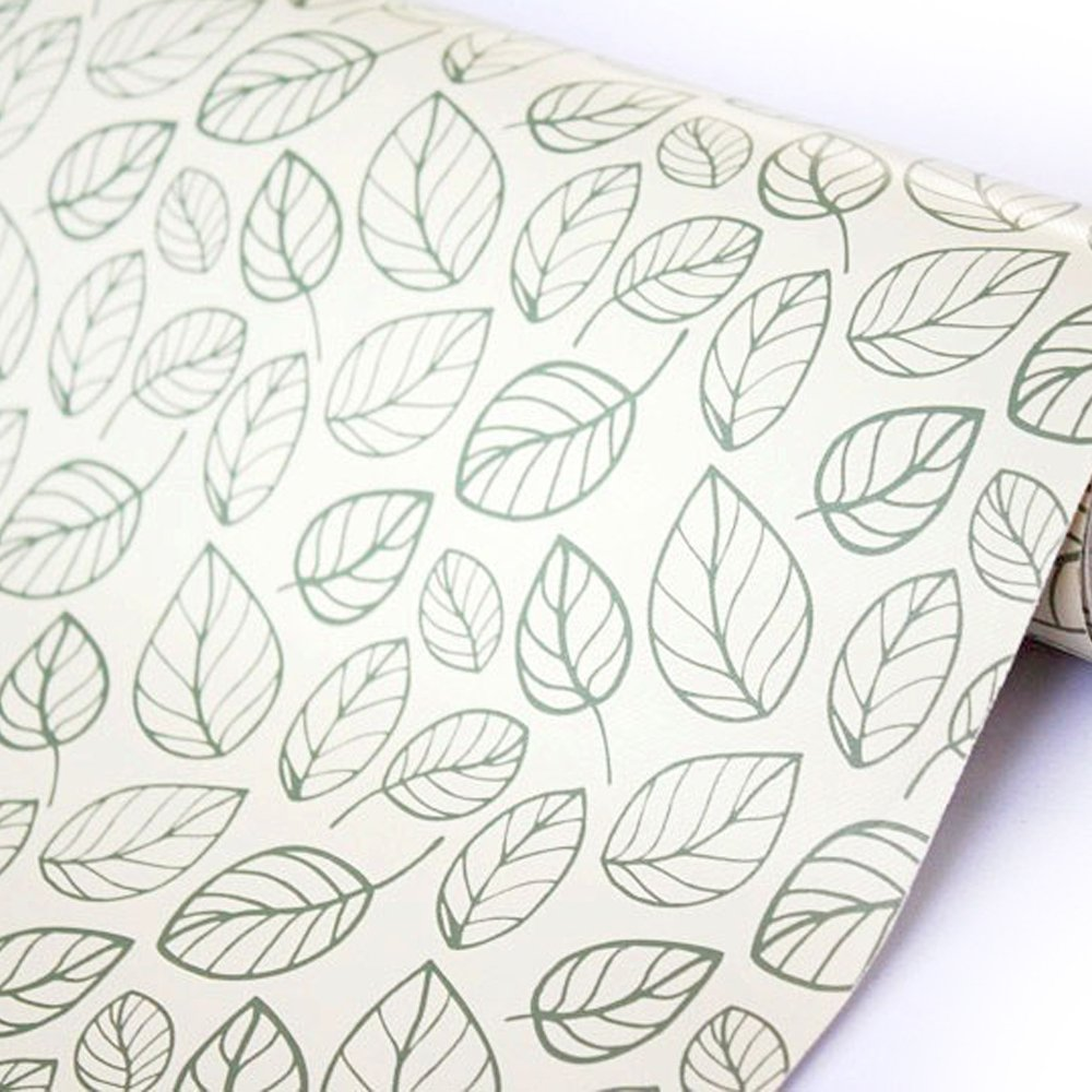 LoveFaye Peel & Stick Shelf Liner Adhesive Contact Paper for Covering Home Office Old Furniture, Leaf Style, 17.7 Inch By 13 Feet 402016