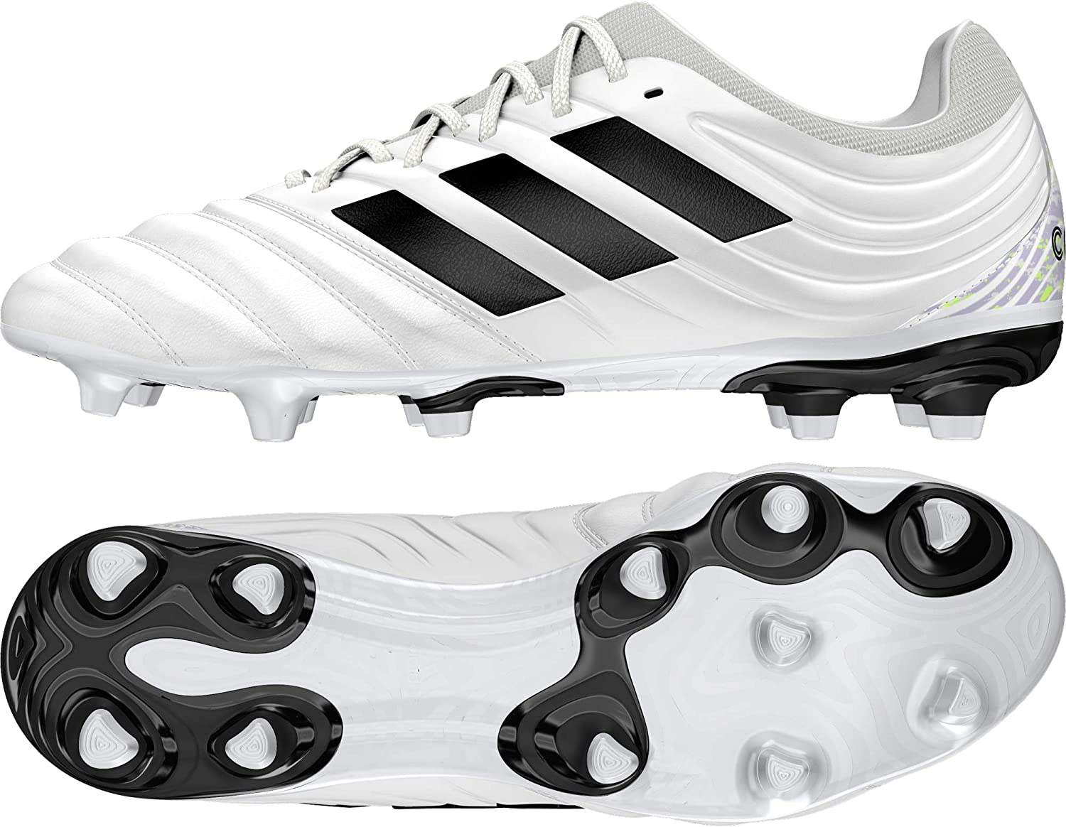 adidas Copa 20.3 FG, Chaussure de Football Homme Ftwr White Core Black Signal Green