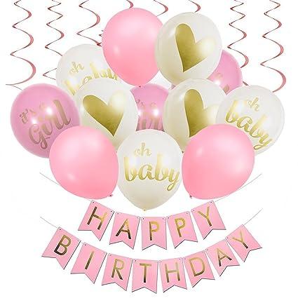 Amazon.com: Feliz decoraciones de fiesta de cumpleaños con ...