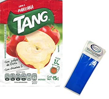 Tang Manzana (Apple) Powdered Drink Mix (Pack of 24) with Tesadorz Resealable