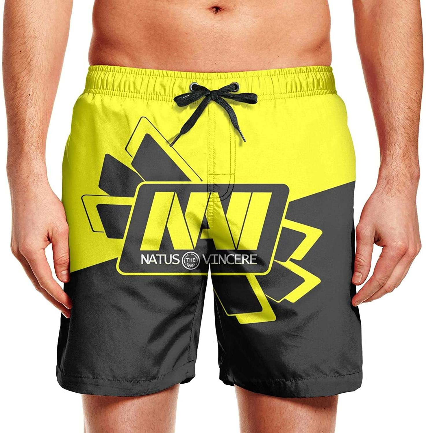NNJA Mens Casual Beach Short Swim Trunks Over-Stretched Core Short