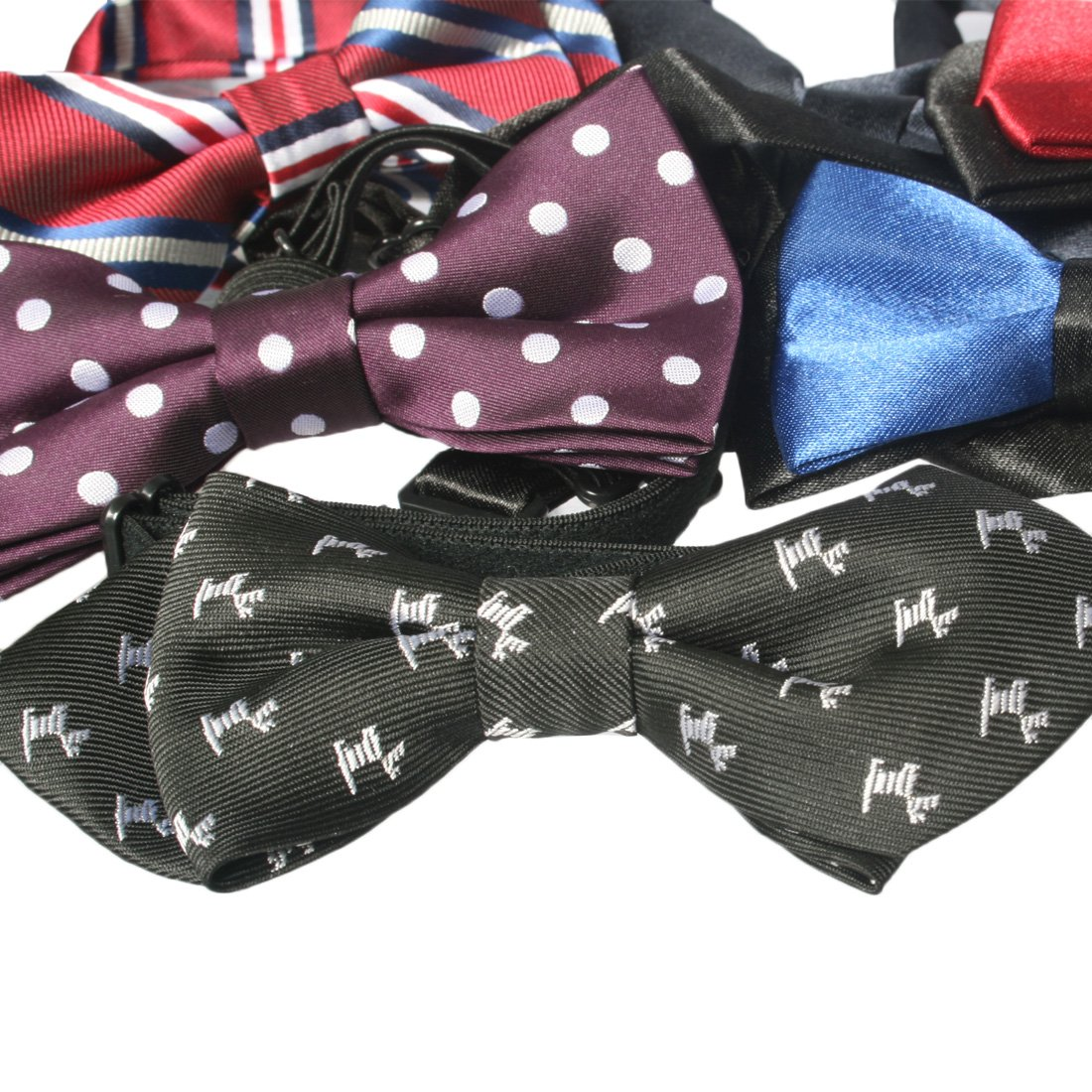 kilofly Pre-tied Adjustable Boys Baby Neck Bow Ties Mixed Value Pack Set of 6