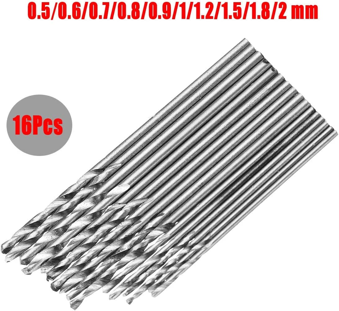 Size : 16pcs Portable Multifunction Precision Hand Drill Set 16//25//28//30//40Pcs High Speed Steel Metric Twist Drilling Drill Bits Set 0.5-3mm Drill Bit Sets for Metal and Wood,Manual Work DIY