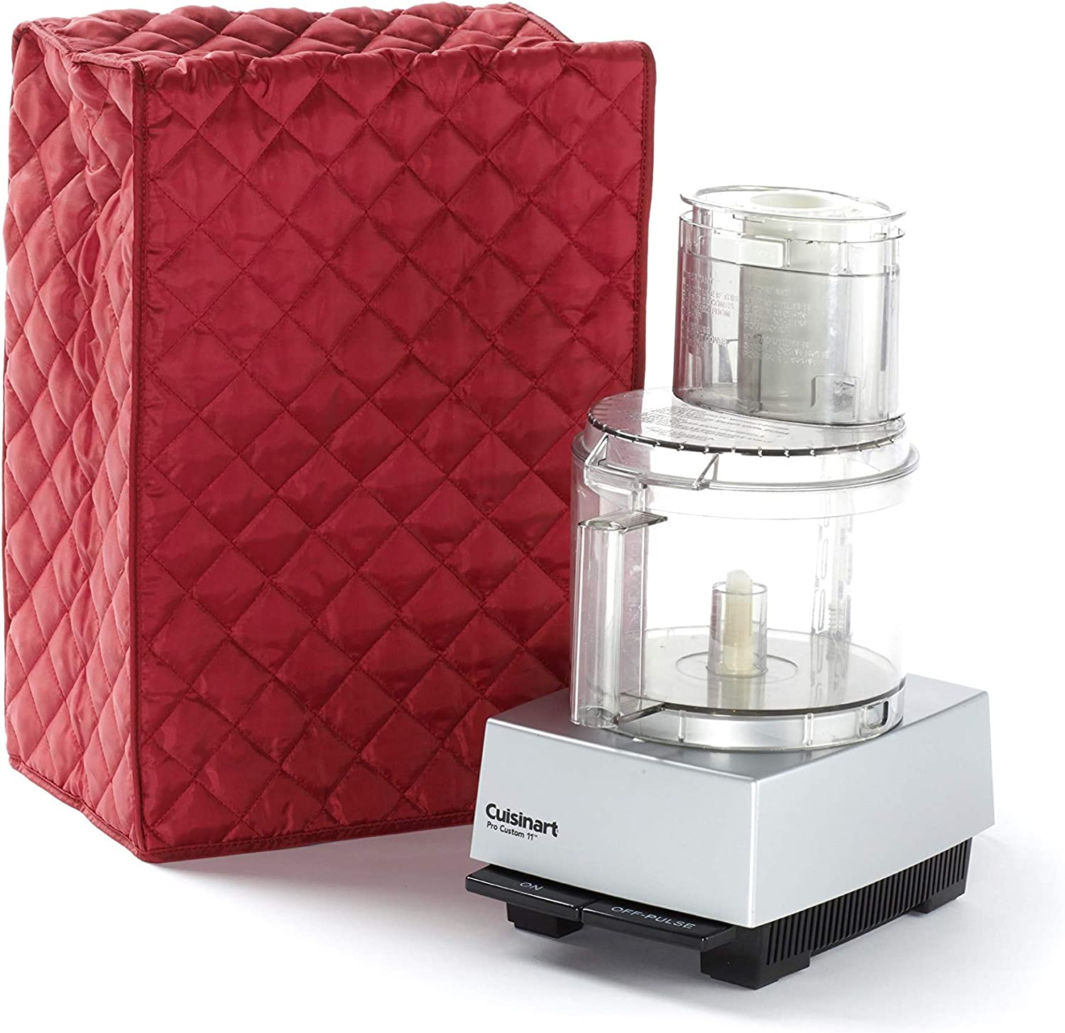 Covermates Food Processor Cover 12W x 8D x 17H Diamond Collection 2 YR Warranty Year Around Protection – Red