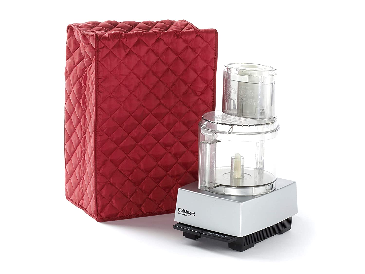 CoverMates – Food Processor Cover – 12W x 8D x 17H – Diamond Collection – 2 YR Warranty – Year Around Protection - Red