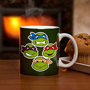 Zak Designs Ninja Turtles Coffee Cup, 11 oz