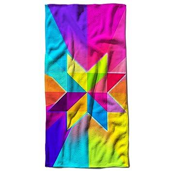 Triángulo Forma de Estrella brillante Comet toalla de playa | Wellcoda, Microfibra, 70cm x 150cm: Amazon.es: Hogar