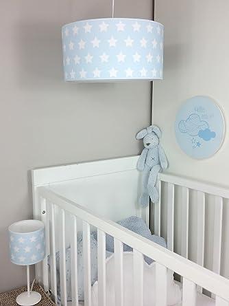 Lampara de techo infantil/Lampara colgante bebe/Lampara para habitacion infantil (Azul)