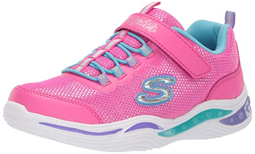 Skechers Girls Power Petals Glittery Shiny Sport Trainers: Amazon.es: Zapatos y complementos
