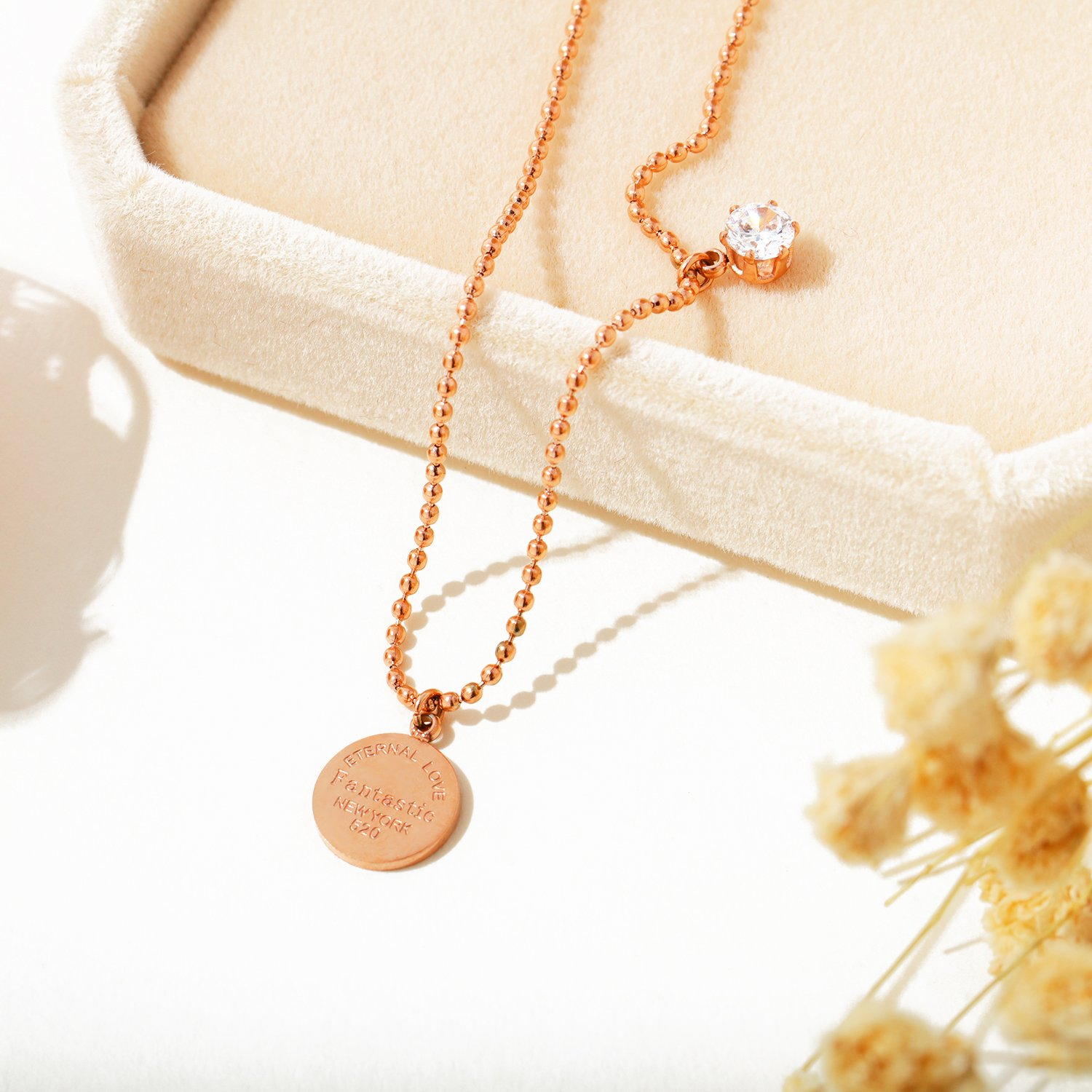 OPK Stainless Steel Rose Gold Women Anklet,Enternal Love Fantastic New York Link Chain Beach Foot Jewelry by OPK (Image #4)