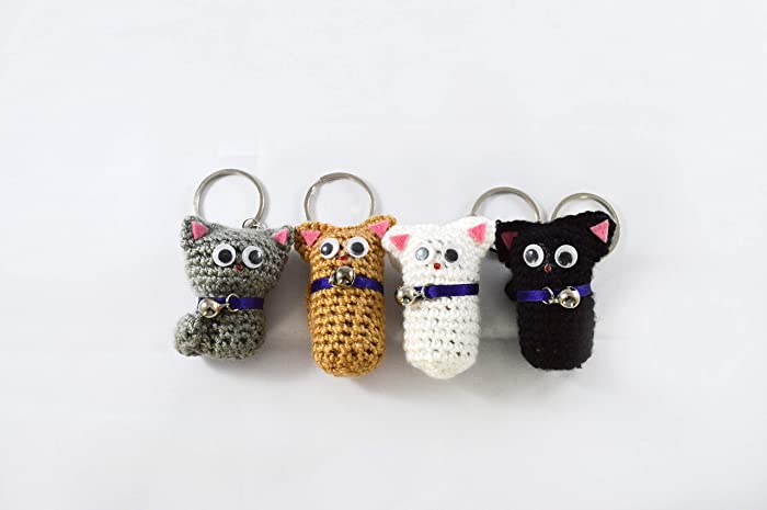Cat keyrings, cat keychain, cat lover gift, keyring, cat gifts, cat