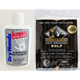Dry Hands 2oz Ultimate Gripping Solution w/ Gorilla Gold Grip Towel