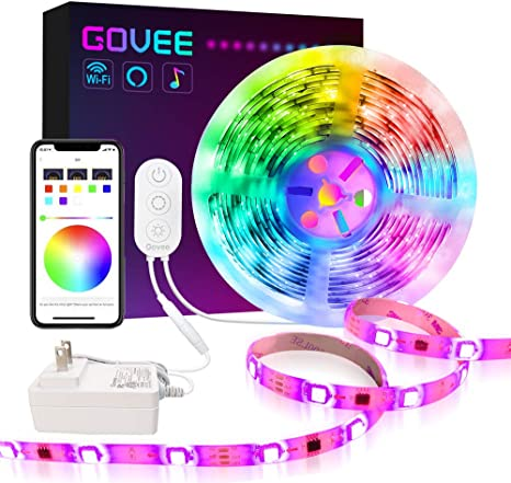 Dreamcolor Led Strip Lights Govee 16 4ft Wifi Wireless Smart Light Strip Works With Alexa Google Assistant App Control For Room Bedroom Kitchen