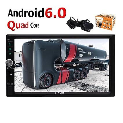 7Android Car Stereo Double Din GPS Sat Nav Auto Radio Quad-core