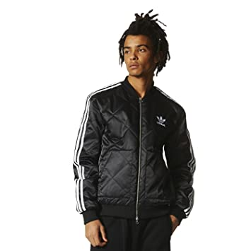 adidas Men's Sst Quilted Pre Jackets, Black, Small