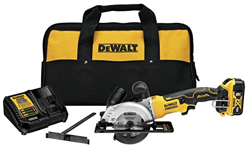 DEWALT DCS571P1 Atomic 20V Max Brushless 4-1 2 in. Cordless Circular Saw Kit