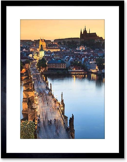 Czech Republic City Skyline Charles Bridge Framed Poster Picture I Prague