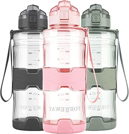 Sports Water Bottles BPA-Free Large Water Bottle for Adults Tritan Leakproof Plastic Water Bottle with Filter 1.5 Liter Reusable Big Drink Water Bottles Portable Bike Water Bottle Durable for Fitness Outdoor Camping Hiking