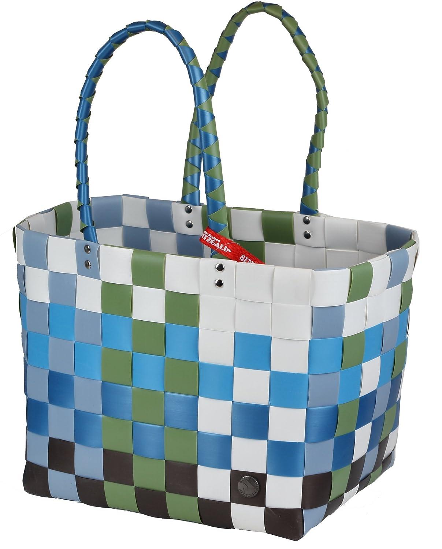Witzgall WG5010 ICE-BAG Einkaufskorb Shopper Einkaufstasche aus Kunststoffbändern 37cmx24cmx28cm silbergrau Witzgall Korbwaren