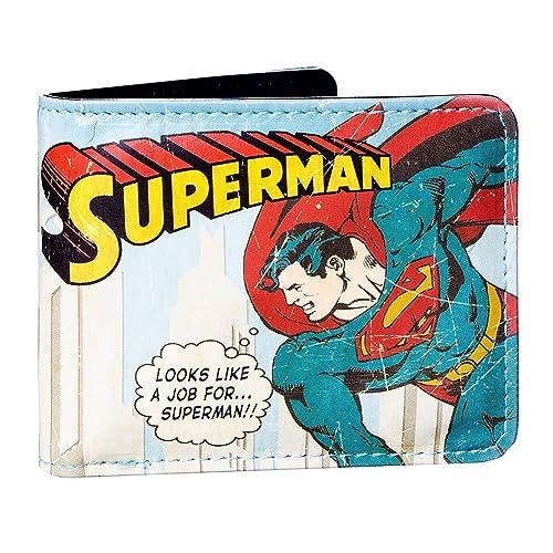 Cartera de Superman en un estuche de metal de DC Comics (Varios colores)