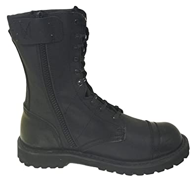 39c62b12b3a G4U-CLX A1B18V Men's Tactical Boots Leather Black Combat Military 10 inch  Cap Toe Side Zipper Army Work Shoes