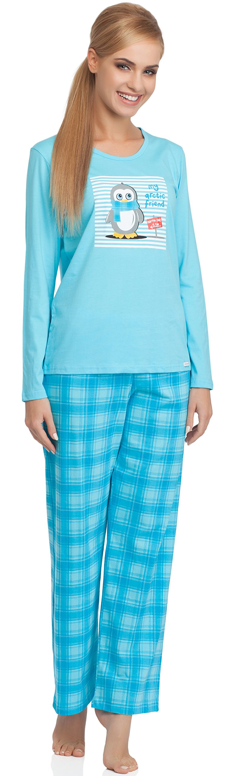 Cornette Pijamas Verano Invierno Conjuntos Mujer Pantalones Ropa CR-655-Arctic Friend product image