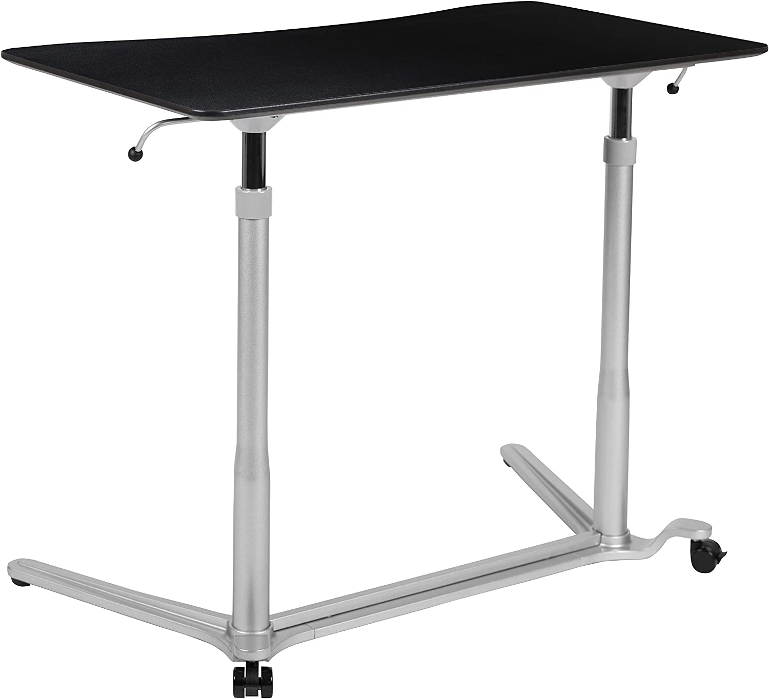 "Flash Furniture Sit-Down, Stand-Up Black Computer Ergonomic Desk with 37.375""W Top (Adjustable Range 29"" - 40.75"")"