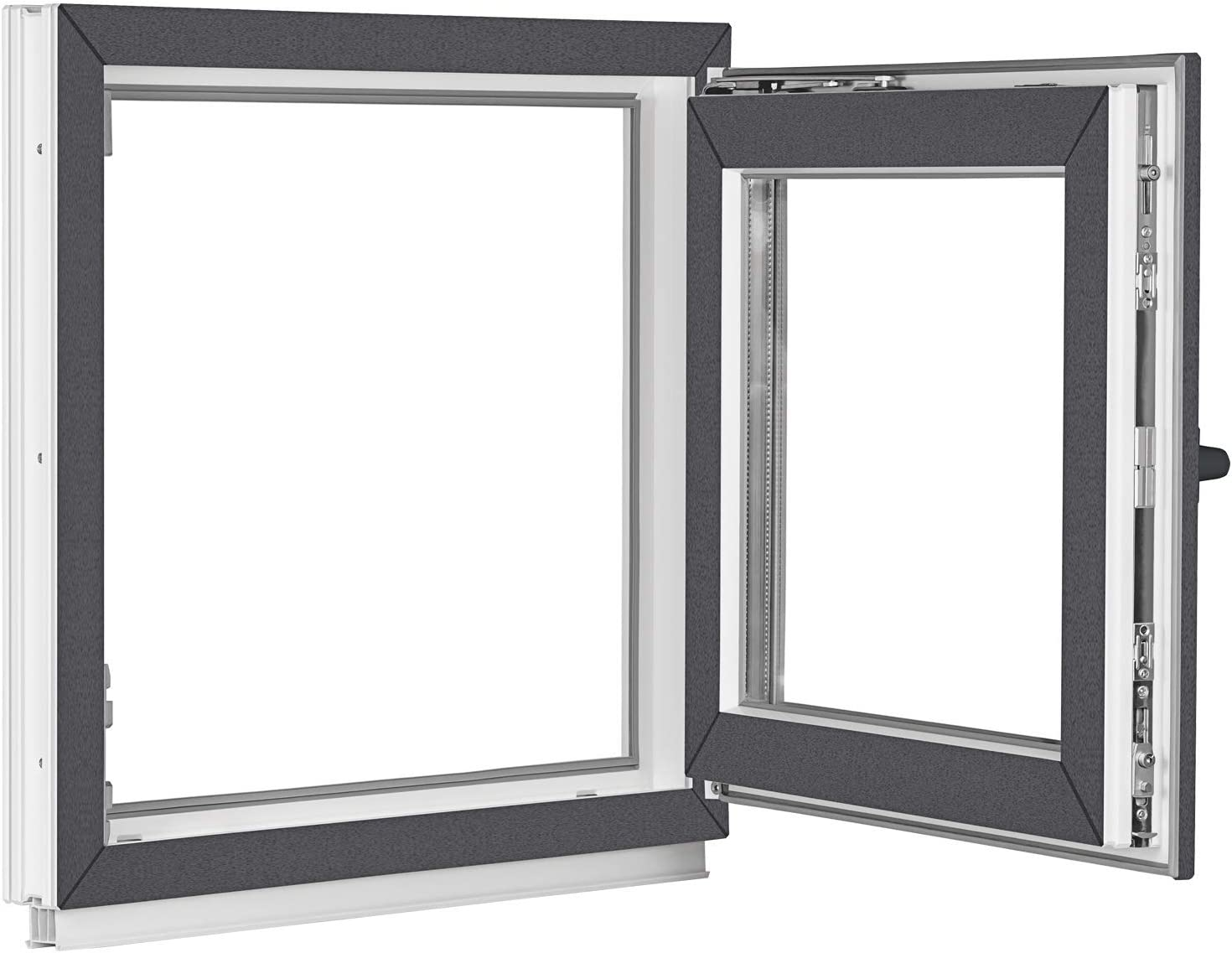 ALLE GR/Ö/ßEN Dreh-Kipp Fenster Kellerfenster Kunststofffenster wei/ß 3 fach Verglasung Premium BxH:75x50 cm DIN Rechts