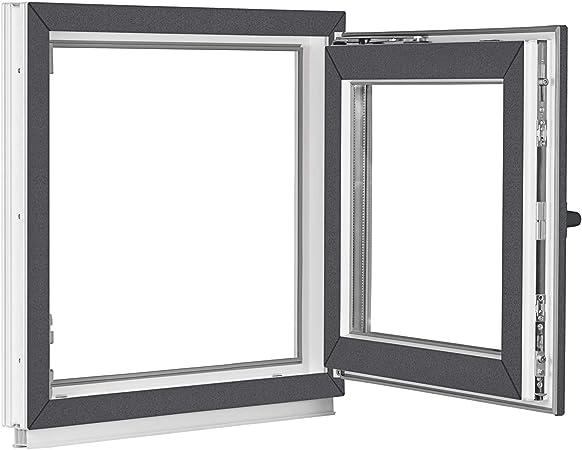BxH:70x80 cm DIN Rechts ALLE GR/Ö/ßEN Premium Dreh-Kipp 3 fach Verglasung Fenster Kellerfenster Kunststofffenster wei/ß