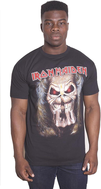 Iron Maiden Flip Eddie Steve Harris Heavy Metal Oficial Camiseta para Hombre: Amazon.es: Ropa y accesorios