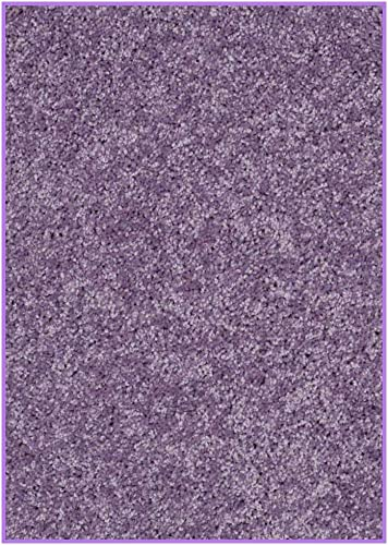 Koeckritz 2.5 x9 Area Rug. Light Plum Purple Carpet. 37 oz Twisted SHAG Frieze. Many Sizes and 20 Vibrant mod Colors to Choose from.
