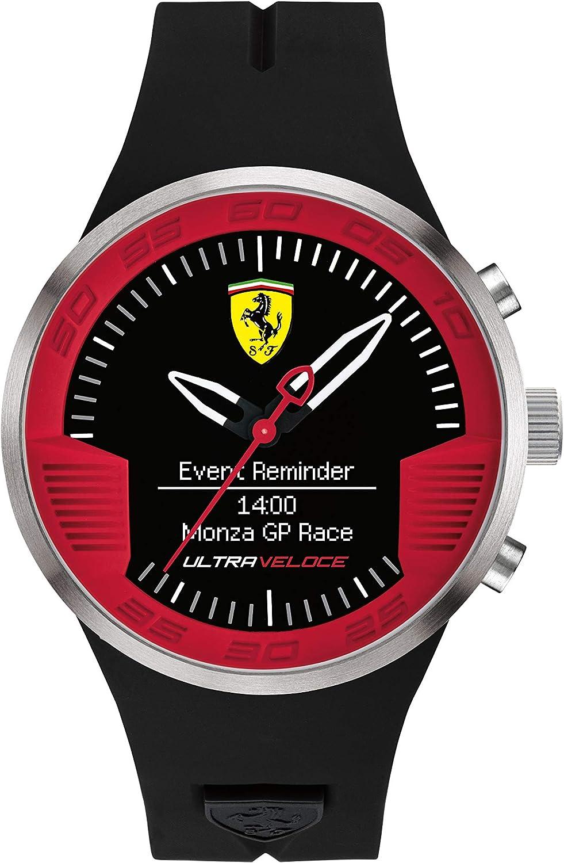 Relojes Ferrari masculina con correa de silicona negro FER0830373 SmartWatch