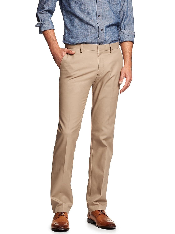93fb111c3b5 Banana Republic Men's Non-Iron Tailored Slim-Fit Chino Pants Oak 36X34 high-