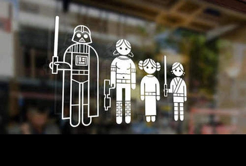 Supersticki Star Wars Family Auto Aufkleber Tuning Fun Lustig Ca 20cm Autoaufkleber Hochleistungsfolie Für Alle Glatten Flächen Uv Und Waschanlagenfest Tuning Profi Qualität Auto