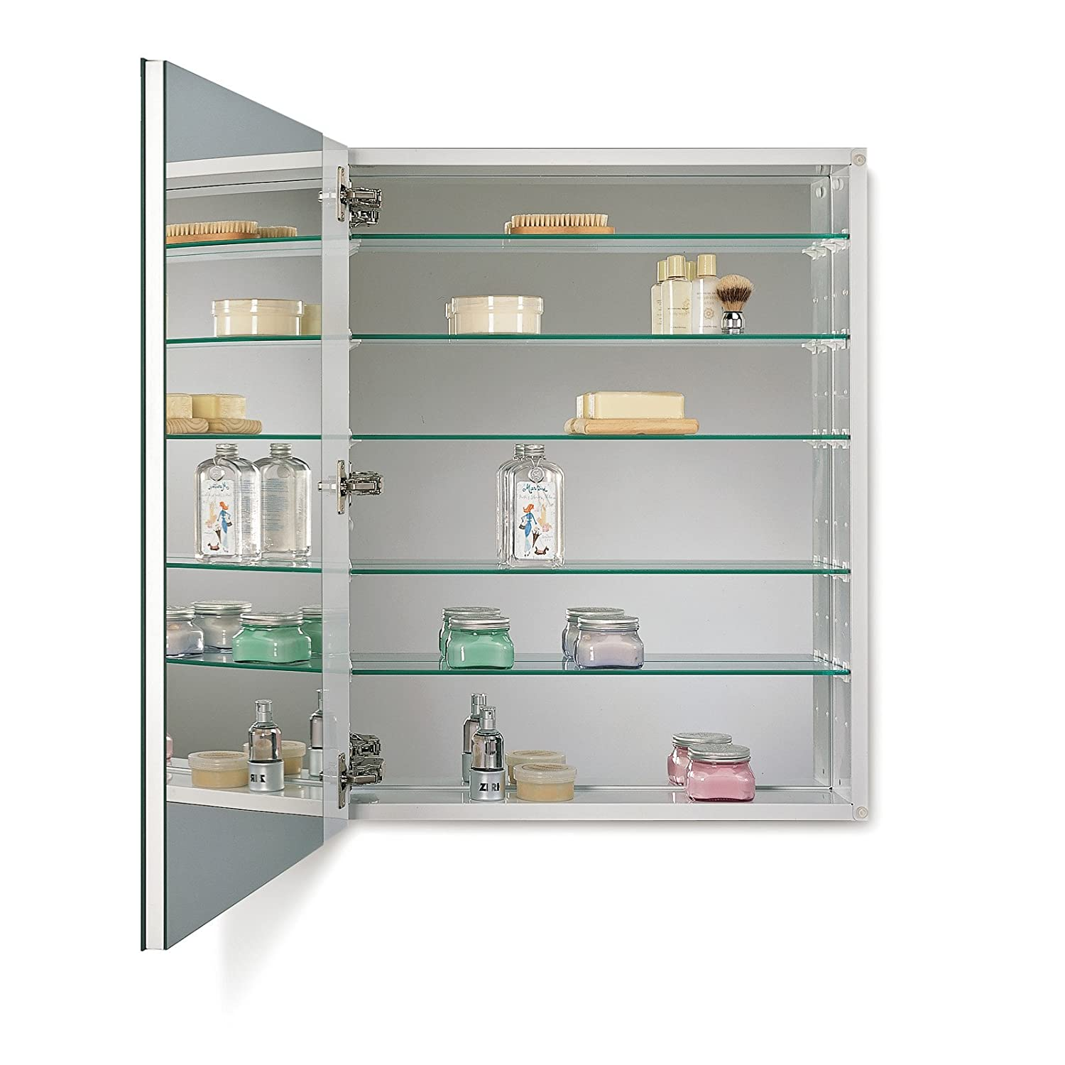 Amazon.com: NuTone 52WH254DP Metro Deluxe Oversize Medicine Cabinet With  1/2 Inch Beveled Trim, 25 X 4 Inch: Home Improvement