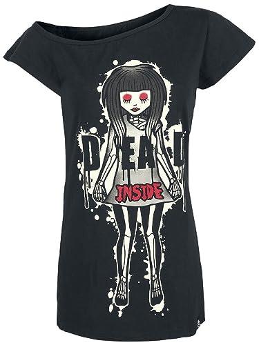 Camiseta Cupcake Cult Dead Inside Off The Shoulder (Negro)