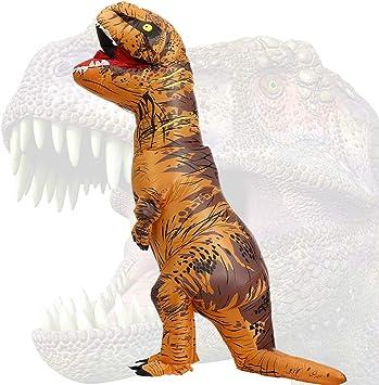 JASHKE Disfraz Dinosaurio Inflable Adulto Traje Dinosaurio Disfraz ...