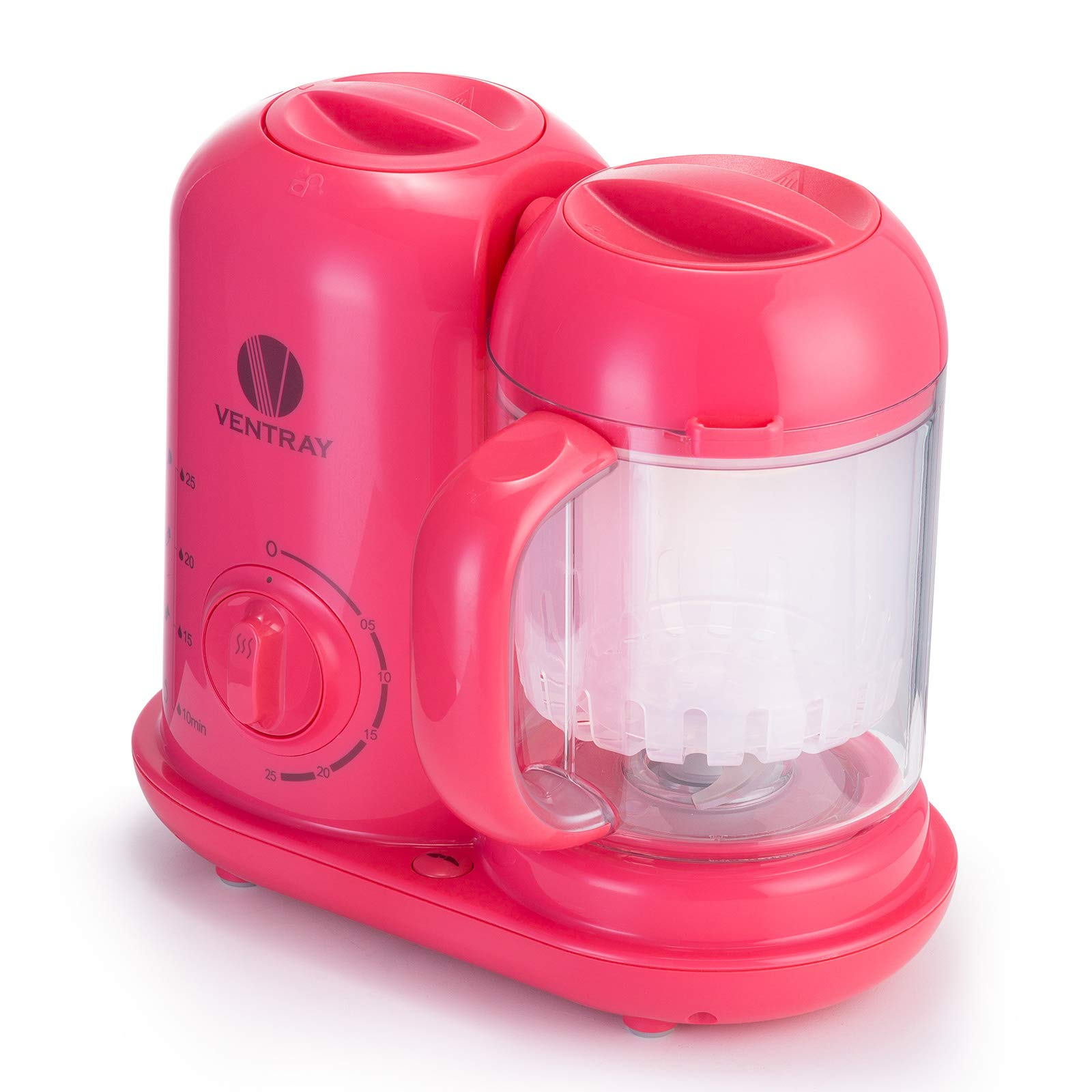 Ventray BabyGrow 100 Pink - All-in-one Blender and Steamer Baby Food Maker - Makes Food for Infants and Toddlers