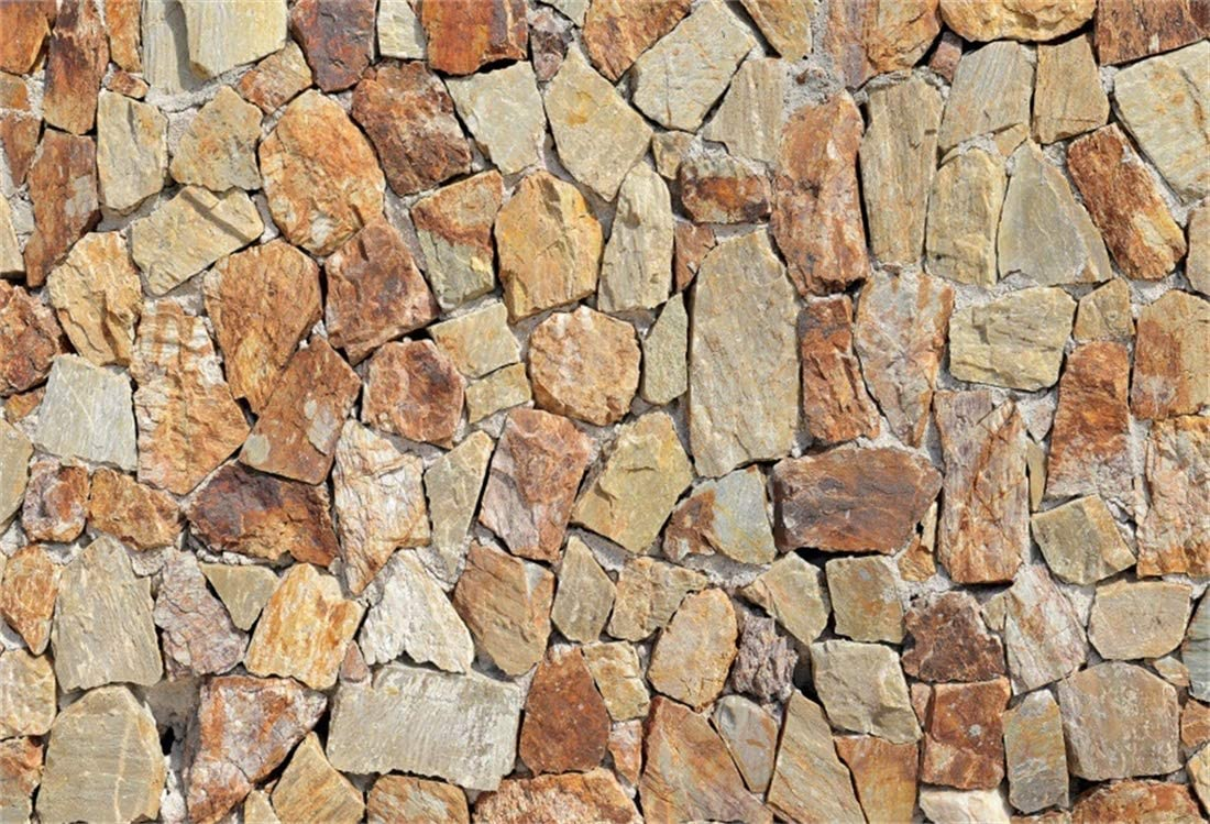 10x6.5ft Vinyl Photography Backdrops Stone Block Wall Texture Patterns Brick Wall Background Newborn Baby Children Adults Portrait Photo Booth Studio Prop Festivals Parties Wedding Decoration