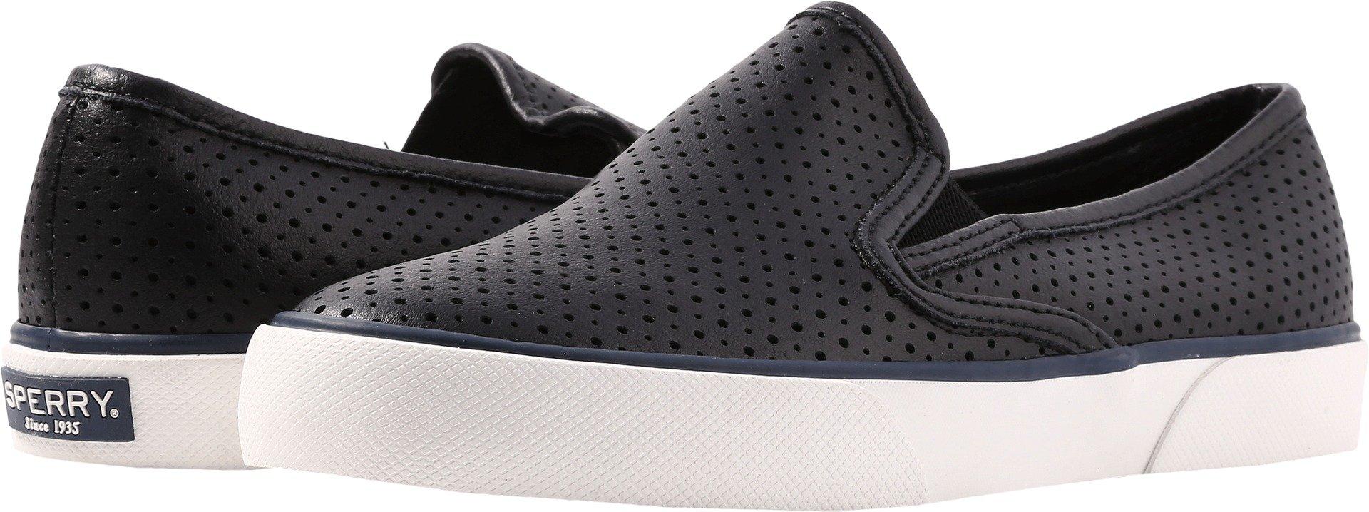 Sperry Women's, Pier Side Slip on Shoes Black 8 M