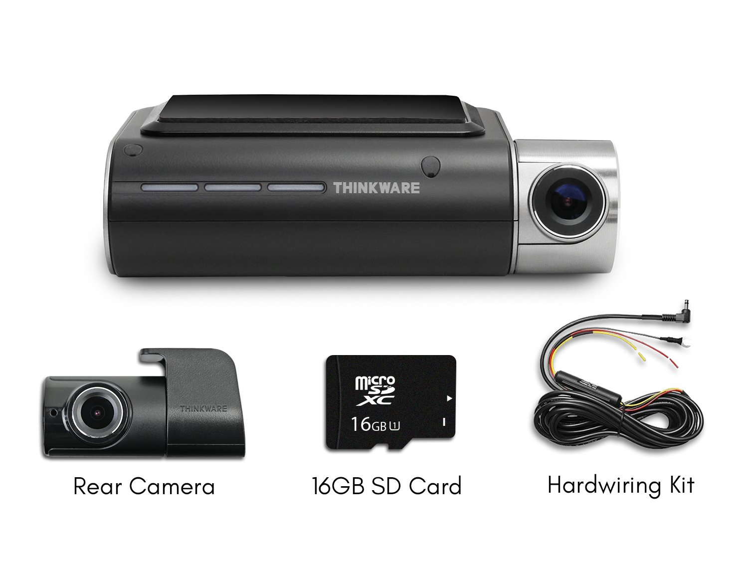 Thinkware F800 Exclusive 2-Channel Bundle 1080P FHD WiFi Rearview Camera 16GB and Hardwiring Kit Included