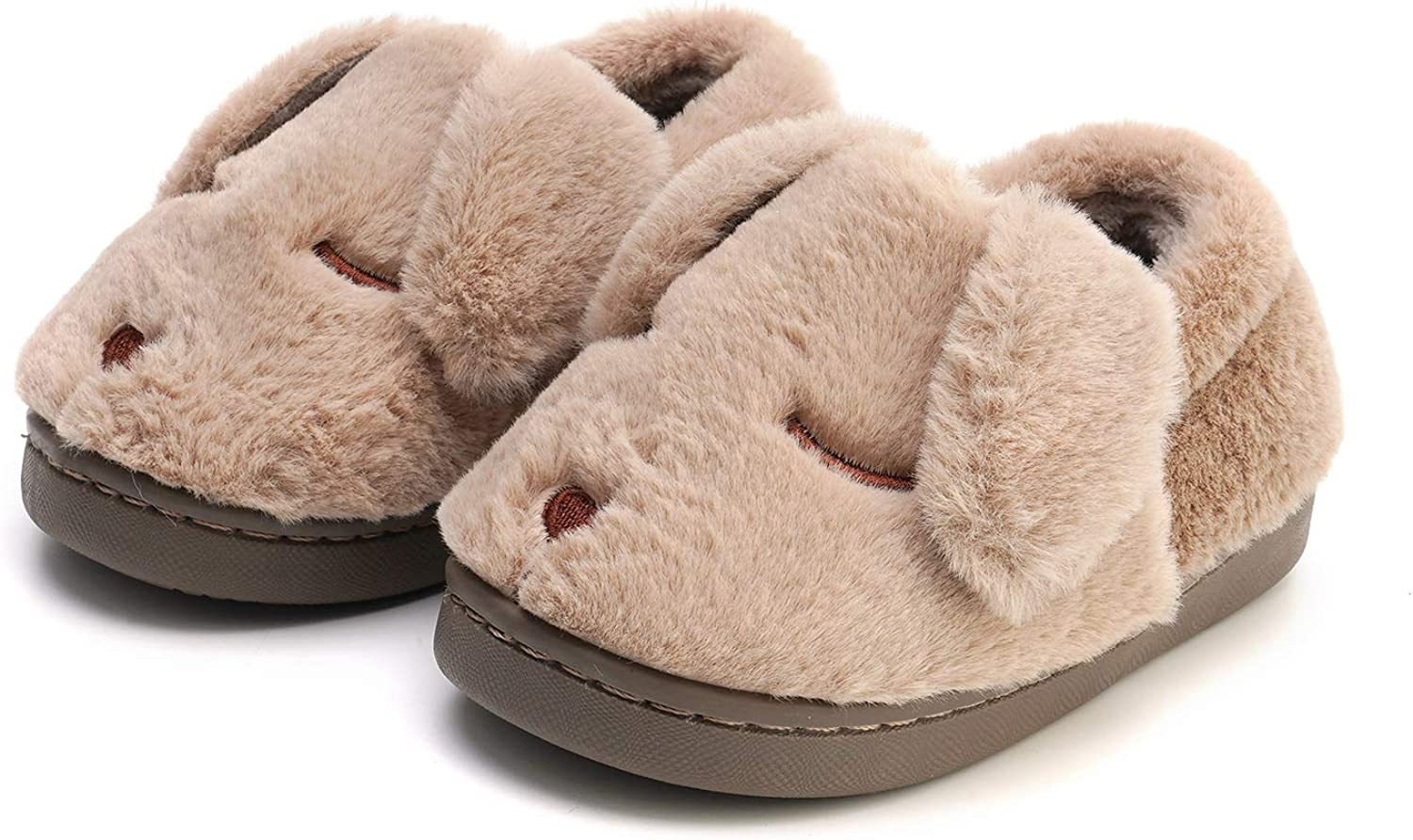 MEMON Baby Boys Fuzzy Slippers | Cute Baby Girls Slippers | Infant Non-Slip Indoor Shoes | Kids Home Shoes
