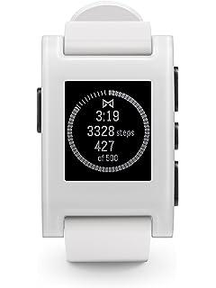 1a02620ea9 Amazon.com  Pebble 2 + Heart Rate Smart Watch - Black Black  Cell ...