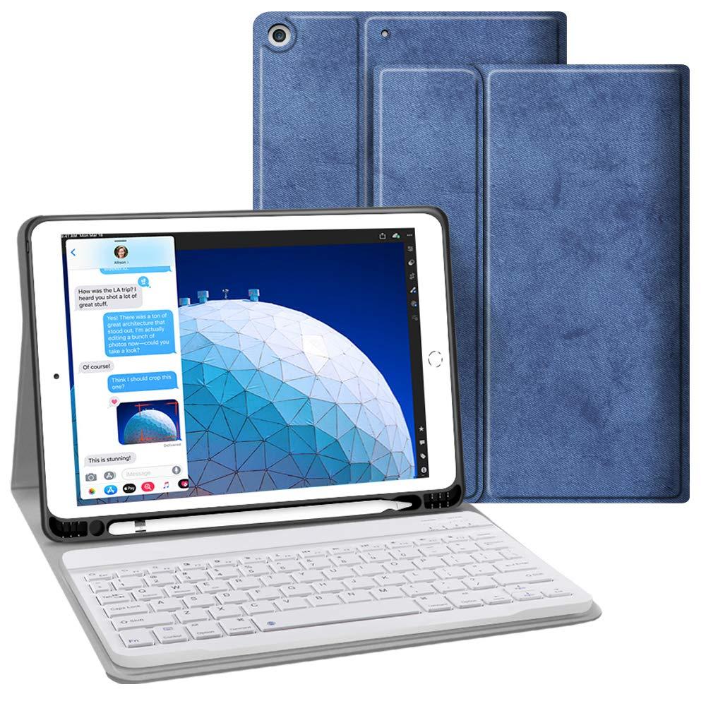 お待たせ! JUQITECH iPad iPad Air B07QT4QKDF 3 10.5インチ 2019 (第3世代) Case スマートケース ペンシルホルダー付き ソフトTPUバックカバー 自動スリープ/スリープ解除機能付き Apple iPad Air 10.5インチ 2019/iPad Pro 10.5 2017専用デザイン Keyboard Case 19105KEYU Keyboard Case Blue B07QT4QKDF, 日原町:c15345dd --- a0267596.xsph.ru