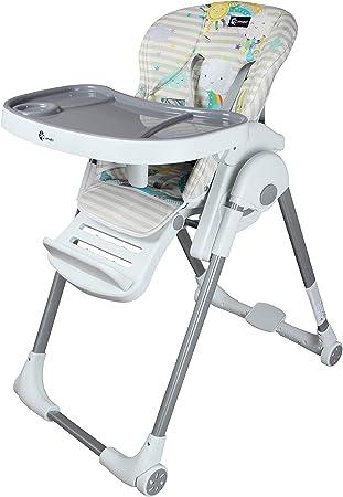 Babystuhl Kinderstuhl Baby Hochstuhl Zusammenklappbar mit Liegefunktion Grau