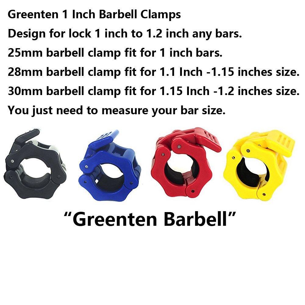 Fitness & Jogging Crosstrainer Greententljs 30mm Barbell Collars Clamps Quick Release Locking Barbells Colla...