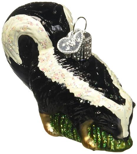 Amazon.com: Old World Christmas Skunk Glass Blown Ornament: Home ...